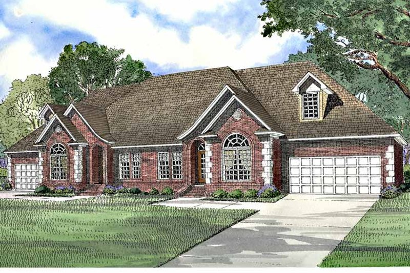 Country Exterior - Front Elevation Plan #17-3196 - Houseplans.com