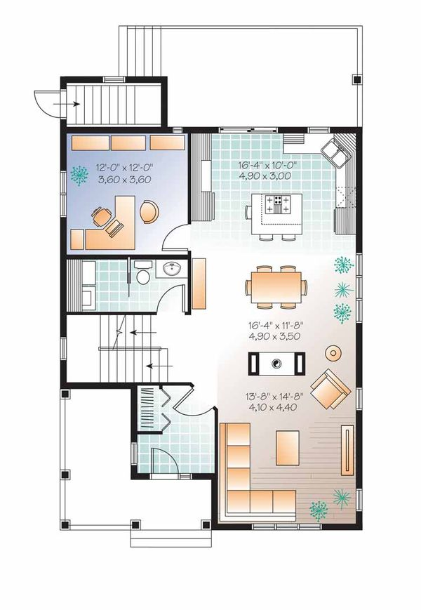 Traditional Floor Plan - Main Floor Plan Plan #23-2505