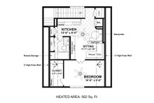 Country Floor Plan - Upper Floor Plan Plan #56-703