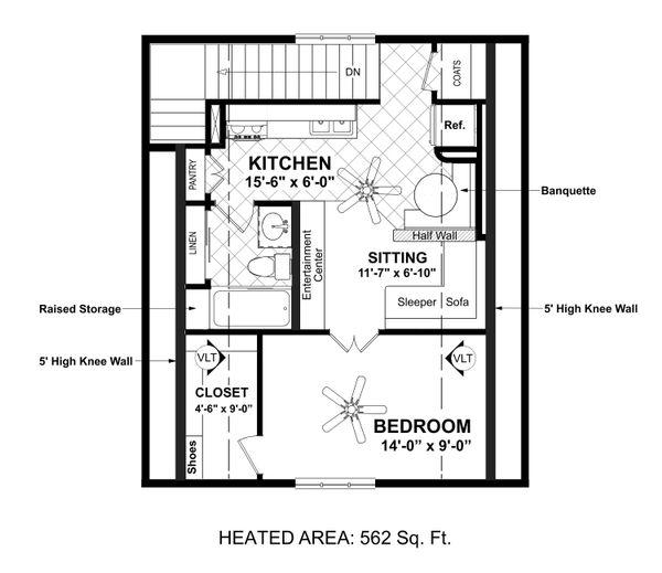 Country Floor Plan - Upper Floor Plan Plan #56-703