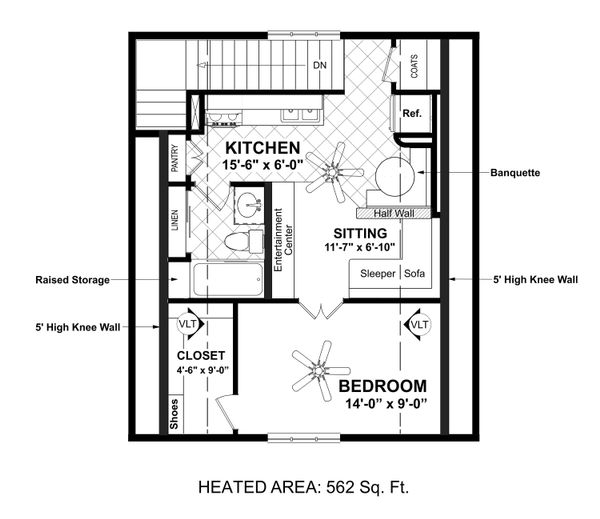 Architectural House Design - Country Floor Plan - Upper Floor Plan #56-703