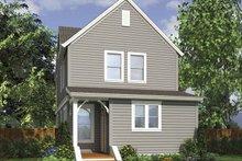 Contemporary Exterior - Rear Elevation Plan #48-868