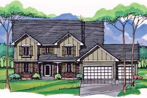 House Blueprint - Colonial Exterior - Front Elevation Plan #51-1006