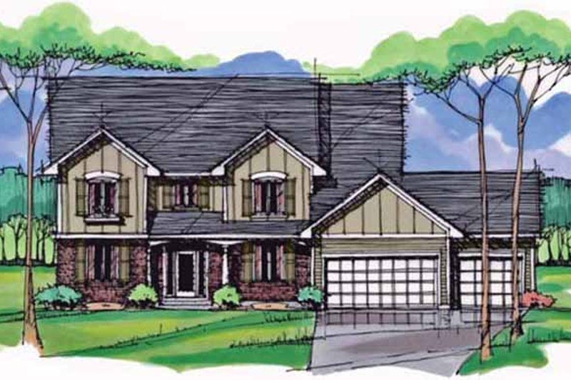 House Plan Design - Colonial Exterior - Front Elevation Plan #51-1006