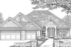 Traditional Exterior - Front Elevation Plan #310-301