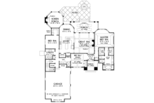 European Floor Plan - Main Floor Plan Plan #929-984