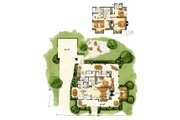 Country Style House Plan - 3 Beds 3.5 Baths 1825 Sq/Ft Plan #942-50 Floor Plan - Main Floor