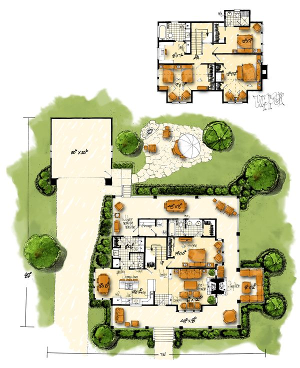 Country Floor Plan - Main Floor Plan Plan #942-50
