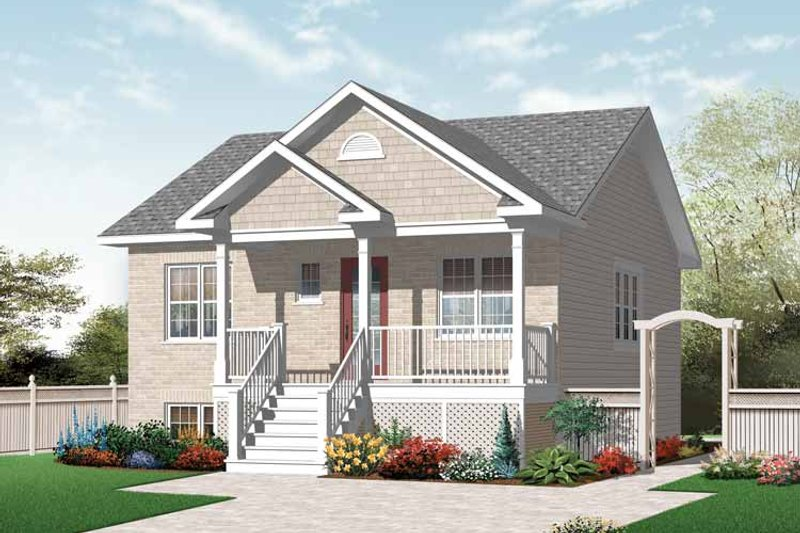 Architectural House Design - Country Exterior - Front Elevation Plan #23-2412