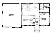 Traditional Floor Plan - Main Floor Plan Plan #1057-5