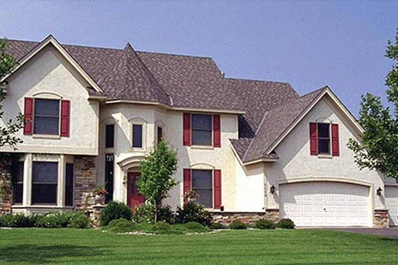 Country Exterior - Front Elevation Plan #51-899