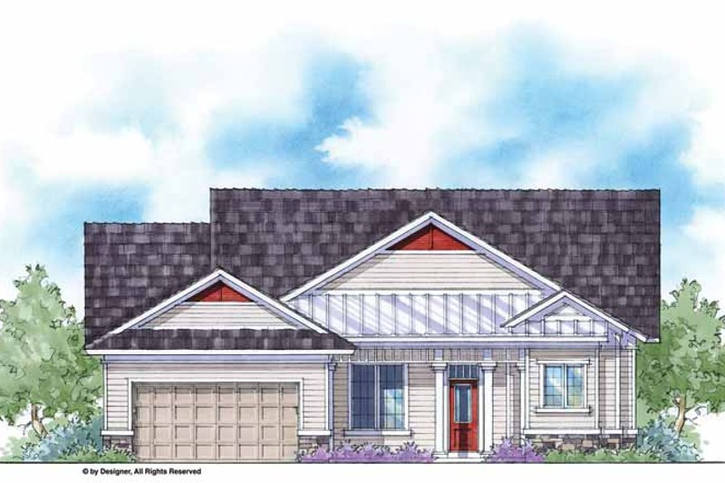 Home Plan - Country Exterior - Front Elevation Plan #938-34