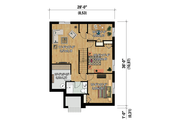 Contemporary Style House Plan - 3 Beds 2 Baths 1884 Sq/Ft Plan #25-4538 Floor Plan - Lower Floor Plan