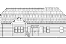 House Plan Design - Ranch Exterior - Rear Elevation Plan #1010-151