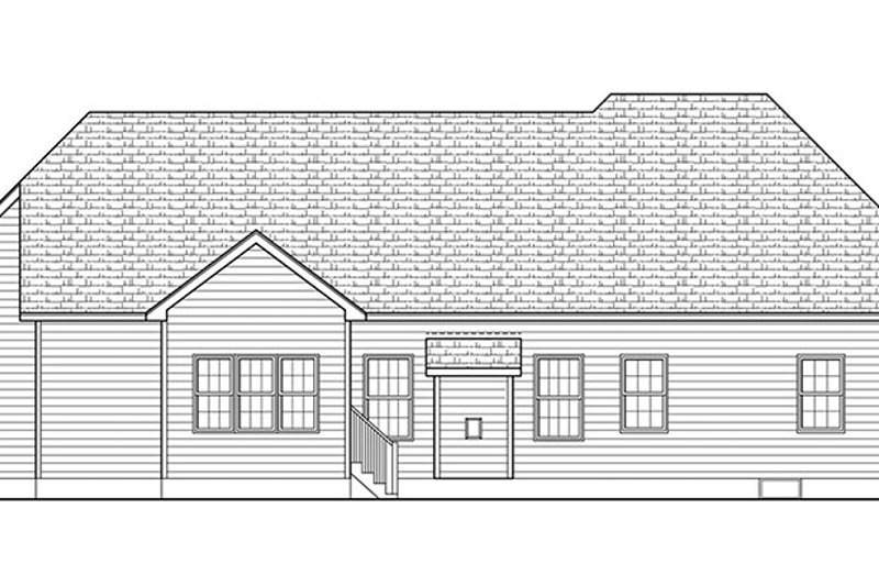 Ranch Exterior - Rear Elevation Plan #1010-151 - Houseplans.com