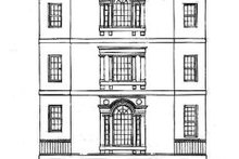 Classical Exterior - Rear Elevation Plan #119-343