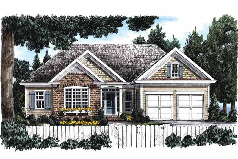 Home Plan - European Exterior - Front Elevation Plan #927-746