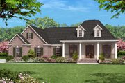 European Style House Plan - 3 Beds 2 Baths 1500 Sq/Ft Plan #430-61 Exterior - Front Elevation