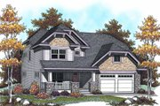 Bungalow Style House Plan - 4 Beds 4.5 Baths 2587 Sq/Ft Plan #70-953 Exterior - Front Elevation