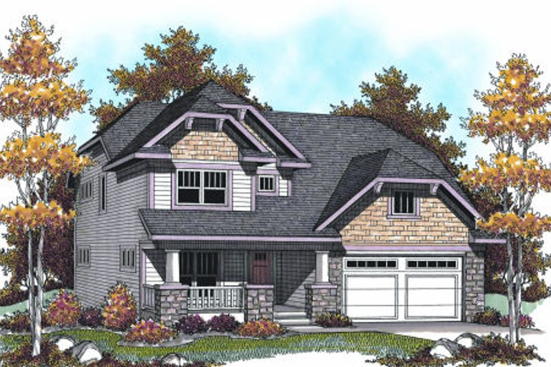 Dream House Plan - Bungalow Exterior - Front Elevation Plan #70-953