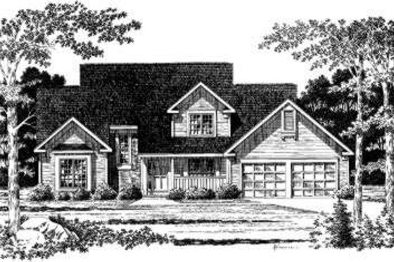 Traditional Exterior - Front Elevation Plan #328-146