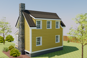 Cottage Style House Plan - 1 Beds 2 Baths 686 Sq/Ft Plan #542-19 Exterior - Rear Elevation