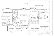 Traditional Style House Plan - 6 Beds 3.5 Baths 2056 Sq/Ft Plan #5-260 Floor Plan - Main Floor Plan