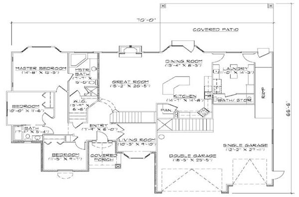 House Plan Design - Traditional Floor Plan - Main Floor Plan #5-260