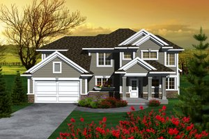 Craftsman Exterior - Front Elevation Plan #70-1132