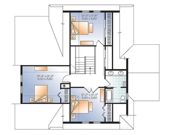 European Floor Plan - Upper Floor Plan Plan #23-2627