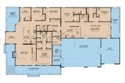 Farmhouse Style House Plan - 4 Beds 4 Baths 3416 Sq/Ft Plan #923-105 Floor Plan - Main Floor Plan