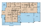 Farmhouse Style House Plan - 4 Beds 4 Baths 3416 Sq/Ft Plan #923-105 Floor Plan - Main Floor
