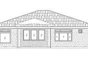 Adobe / Southwestern Style House Plan - 3 Beds 2 Baths 1543 Sq/Ft Plan #24-291 Exterior - Rear Elevation