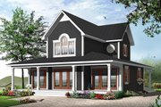 Traditional Style House Plan - 4 Beds 2.5 Baths 1955 Sq/Ft Plan #23-826 Exterior - Front Elevation