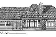 Traditional Style House Plan - 3 Beds 2 Baths 1977 Sq/Ft Plan #70-259 Exterior - Rear Elevation