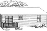 Ranch Style House Plan - 2 Beds 1 Baths 950 Sq/Ft Plan #70-1014 Photo