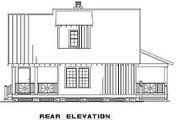 Cottage Style House Plan - 3 Beds 2 Baths 1397 Sq/Ft Plan #17-2015 Exterior - Rear Elevation