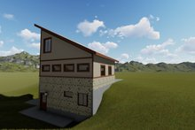 House Plan Design - Modern Exterior - Rear Elevation Plan #1060-72