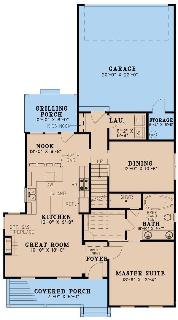 Farmhouse Floor Plan - Main Floor Plan Plan #923-158