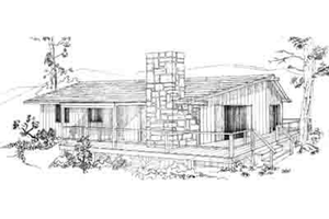 Ranch Exterior - Front Elevation Plan #1-125