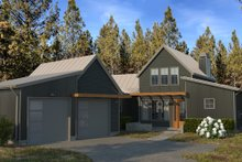 Modern Exterior - Front Elevation Plan #895-108
