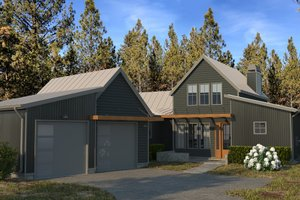 Modern Exterior - Front Elevation Plan #895-108