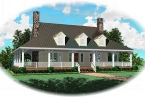 Country Exterior - Front Elevation Plan #81-729