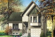 Cottage Style House Plan - 3 Beds 2 Baths 1797 Sq/Ft Plan #25-4116 Exterior - Front Elevation