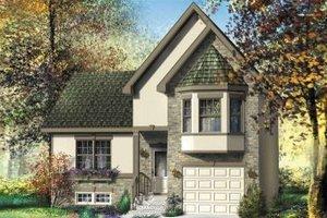 Cottage Exterior - Front Elevation Plan #25-4116