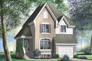 European Style House Plan - 3 Beds 1.5 Baths 1702 Sq/Ft Plan #25-4184 Exterior - Front Elevation