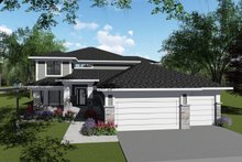 Architectural House Design - Modern Exterior - Front Elevation Plan #70-1429