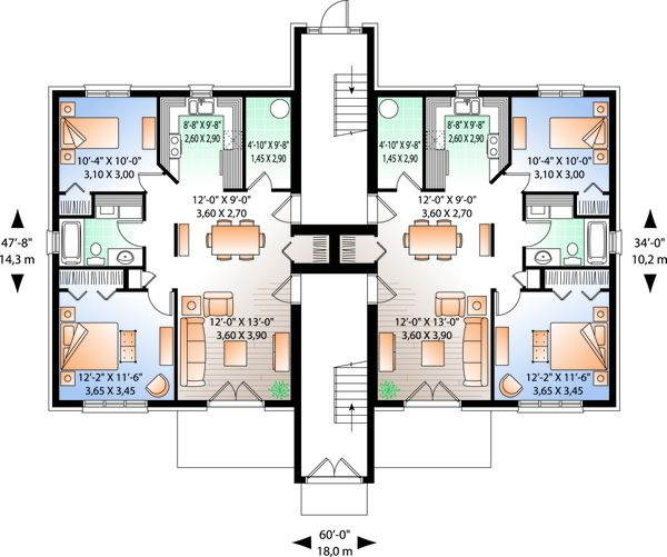 Traditional Floor Plan - Main Floor Plan Plan #23-777