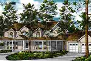 Country Exterior - Front Elevation Plan #40-101
