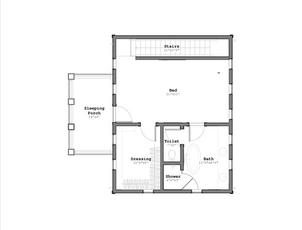 Craftsman Floor Plan - Upper Floor Plan Plan #926-1